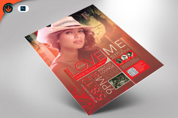 Love Me Party Flyer Template Graphic By seraphimchris