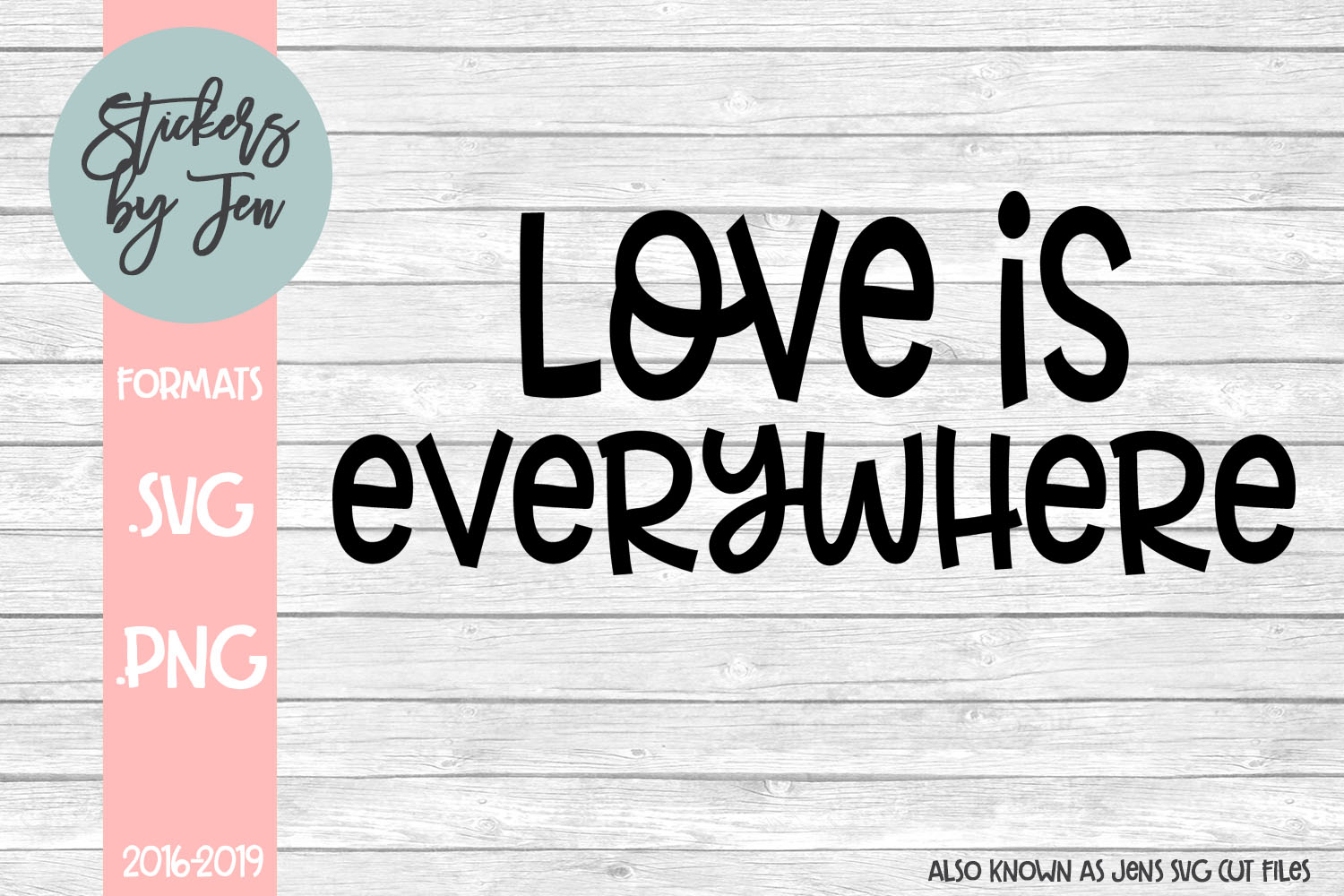 Download Free Love Is Everywhere Svg Graphic By Stickers By Jennifer for Cricut Explore, Silhouette and other cutting machines.