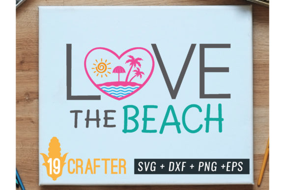 Print on Demand: Love the Beach Summer Svg Printable File Graphic Crafts By great19