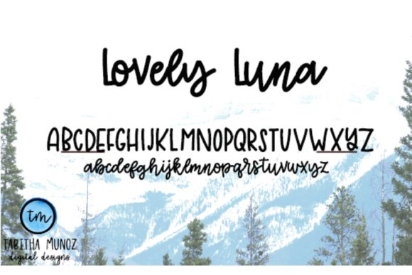 Lovely Luna Font By tabitha_beam Image 2