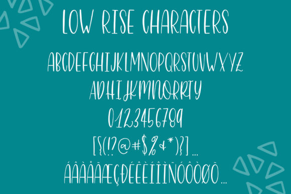 Print on Demand: Low Rise Sans Serif Font By jordynalisondesigns - Image 9