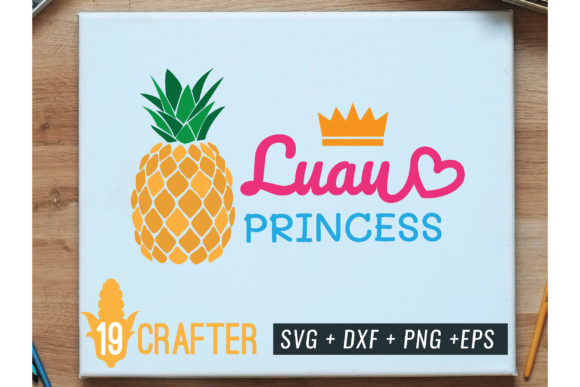 Print on Demand: Luau Princess with Pineapple Summer Graphic Crafts By great19