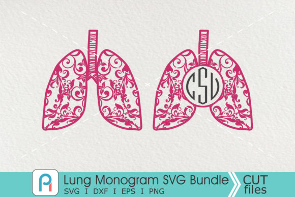 Lung Monogram Svg, Lung Svg,Lung Clipart Graphic Crafts By Pinoyartkreatib