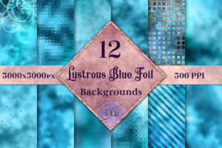 Lustrous Blue Foil Backgrounds Graphic By SapphireXDesigns