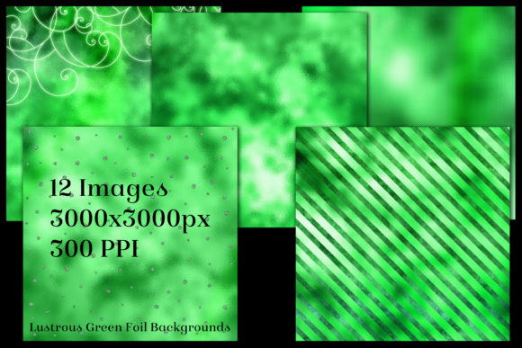 Print on Demand: Lustrous Green Foil Backgrounds Graphic Backgrounds By SapphireXDesigns - Image 2
