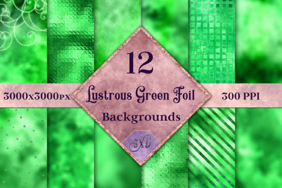Lustrous Green Foil Backgrounds Graphic By SapphireXDesigns