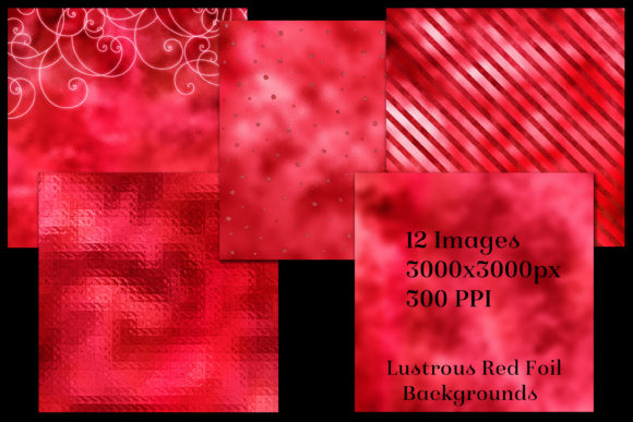Print on Demand: Lustrous Red Foil Backgrounds Graphic Backgrounds By SapphireXDesigns - Image 2