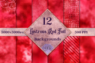 Lustrous Red Foil Backgrounds Graphic By SapphireXDesigns