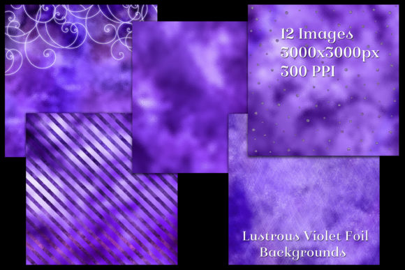 Print on Demand: Lustrous Violet Foil Backgrounds Graphic Backgrounds By SapphireXDesigns - Image 2