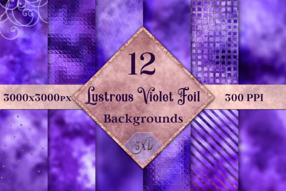 Lustrous Violet Foil Backgrounds Graphic By SapphireXDesigns