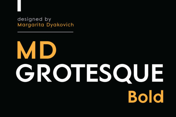 Print on Demand: MD Grotesque Bold Sans Serif Font By Margarita Dyakovich