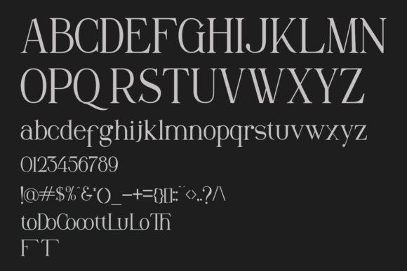 Print on Demand: Maclucash Serif Font By gumacreative - Image 5