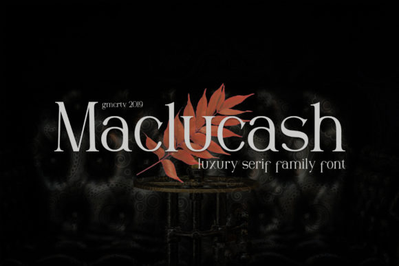 Maclucash Serif Font By gumacreative