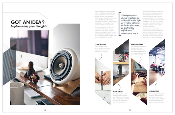Download Free Magazine Template Indesign Graphic By Love Graphic Design SVG Cut Files