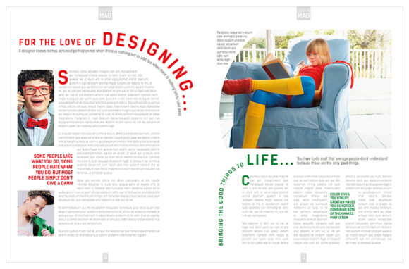 Download Free Magazine Template Indesign Graphic By Love Graphic Design for Cricut Explore, Silhouette and other cutting machines.