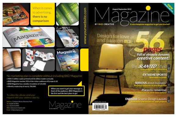 Magazine Template InDesign Graphic Print Templates By Love Graphic Design