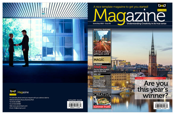 Magazine Template Indesign Graphic By Love Graphic Design
