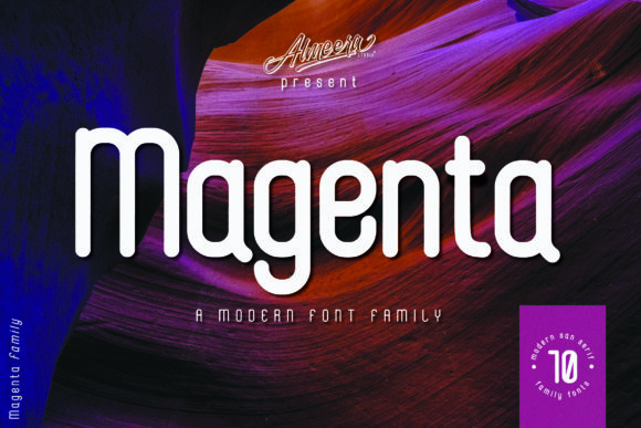 Print on Demand: Magenta Family Sans Serif Font By Almeera Studio