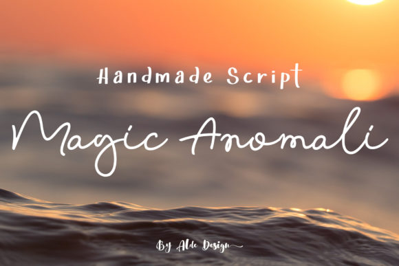 Print on Demand: Magic Anomali Script & Handwritten Font By aldedesign