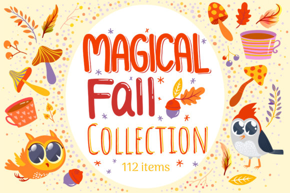 Print on Demand: Magical Fall Collection Graphic Objects By tatiana.cociorva