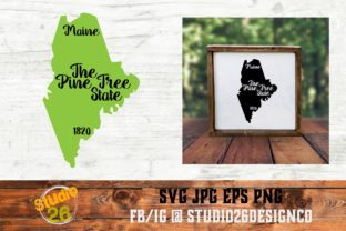 Download Free Maine State Nickname Graphic By Studio 26 Design Co Creative for Cricut Explore, Silhouette and other cutting machines.