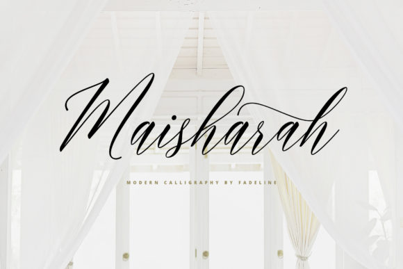Print on Demand: Maisharah Script & Handwritten Font By FadeLine