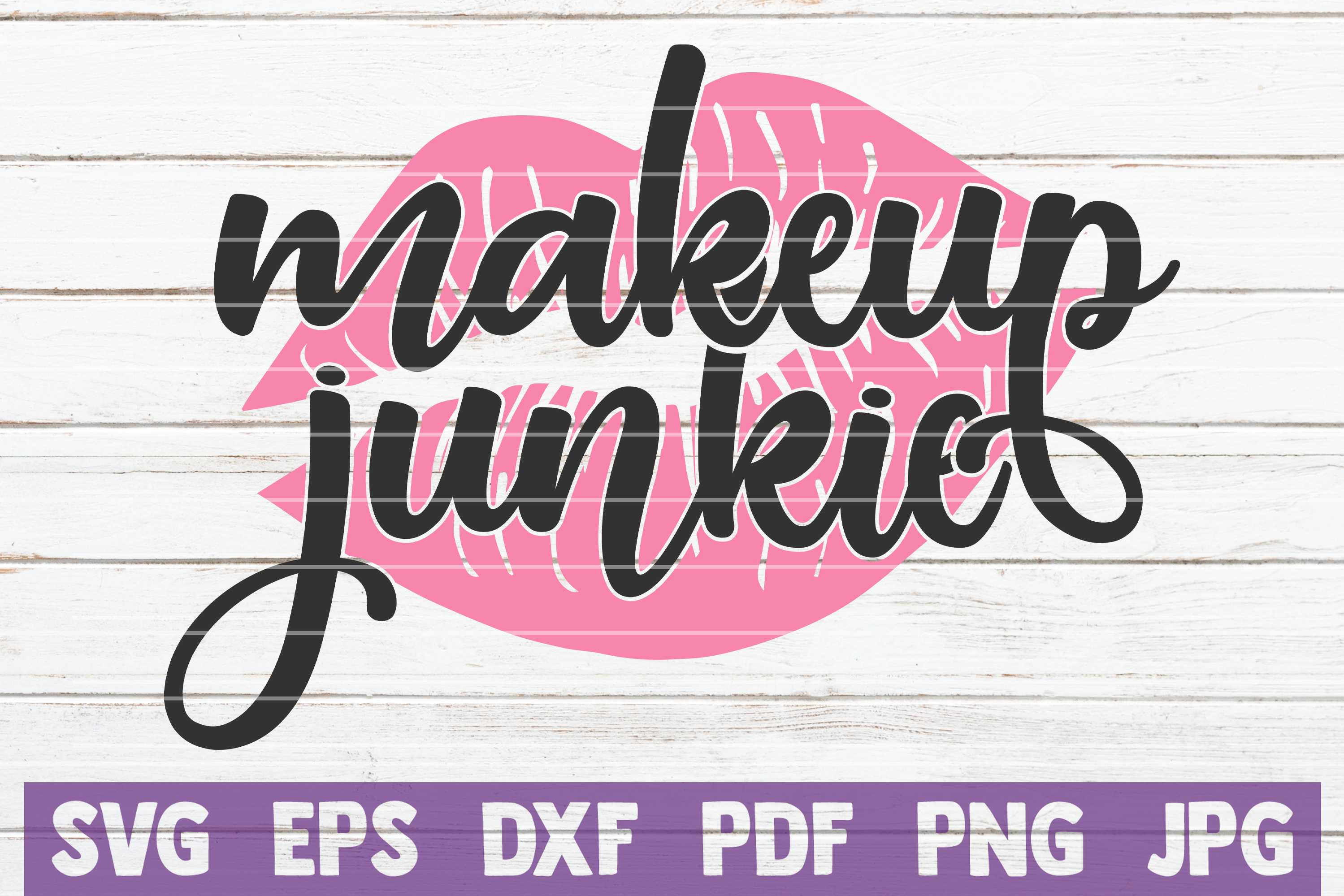 Download Free Makeup Junkie Cut File Graphic By Mintymarshmallows Creative for Cricut Explore, Silhouette and other cutting machines.
