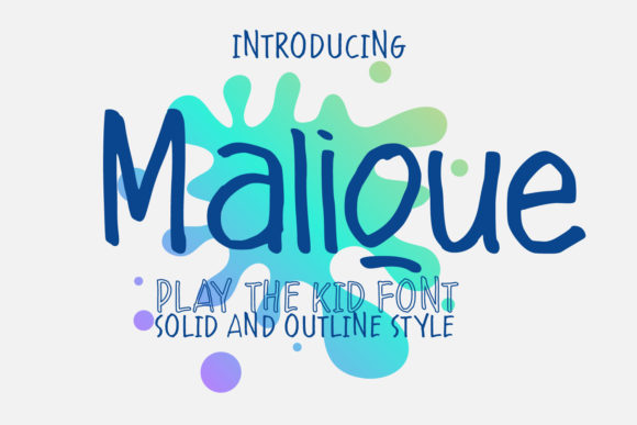 Print on Demand: Malique Script & Handwritten Font By 38.lineart