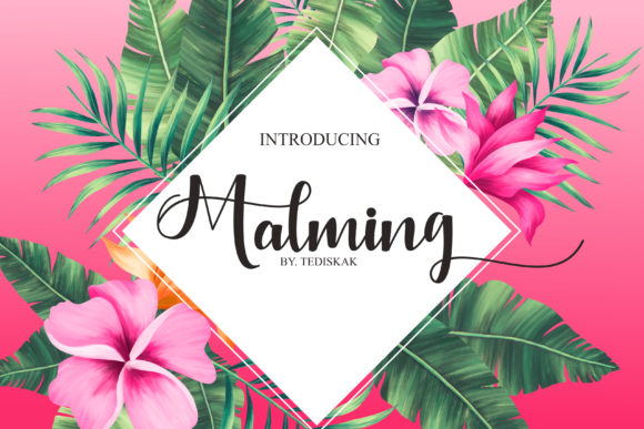 Download Free Malming Font By Hai Hai Creative Fabrica for Cricut Explore, Silhouette and other cutting machines.