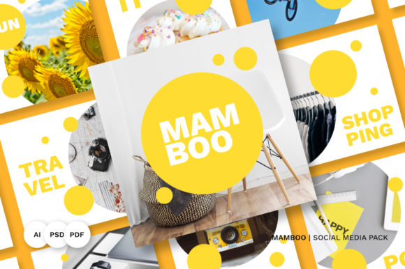 Download Free Mamboo Social Media Pack Grafico Por Abbidzart Store Creative Fabrica SVG Cut Files