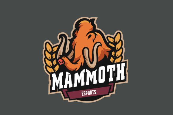 Print on Demand: Mammoth E-Sports Logo Graphic Logos By ovoz.graphics