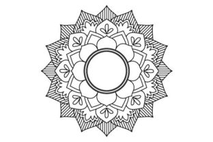 Download Free Mandala Coloring Page Vector Grafico Por Graphicsfarm Creative for Cricut Explore, Silhouette and other cutting machines.