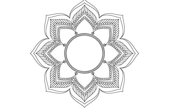 Download Free Mandala Frame Vector Coloring Page Graphic By Graphicsfarm Creative Fabrica for Cricut Explore, Silhouette and other cutting machines.