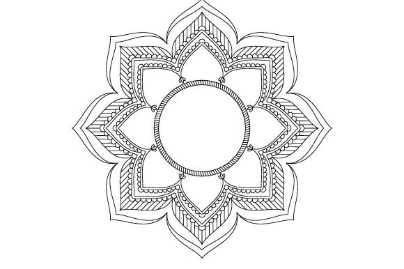 mandala frame vector coloring page graphic by graphicsfarm