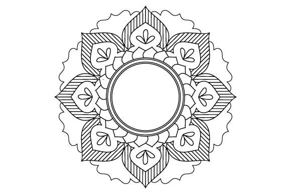 Print on Demand: Mandala Frame Vector Outline Graphic Illustrations By GraphicsFarm