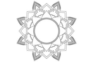 Download Free Mandala Frame Vector Graphic By Graphicsfarm Creative Fabrica for Cricut Explore, Silhouette and other cutting machines.