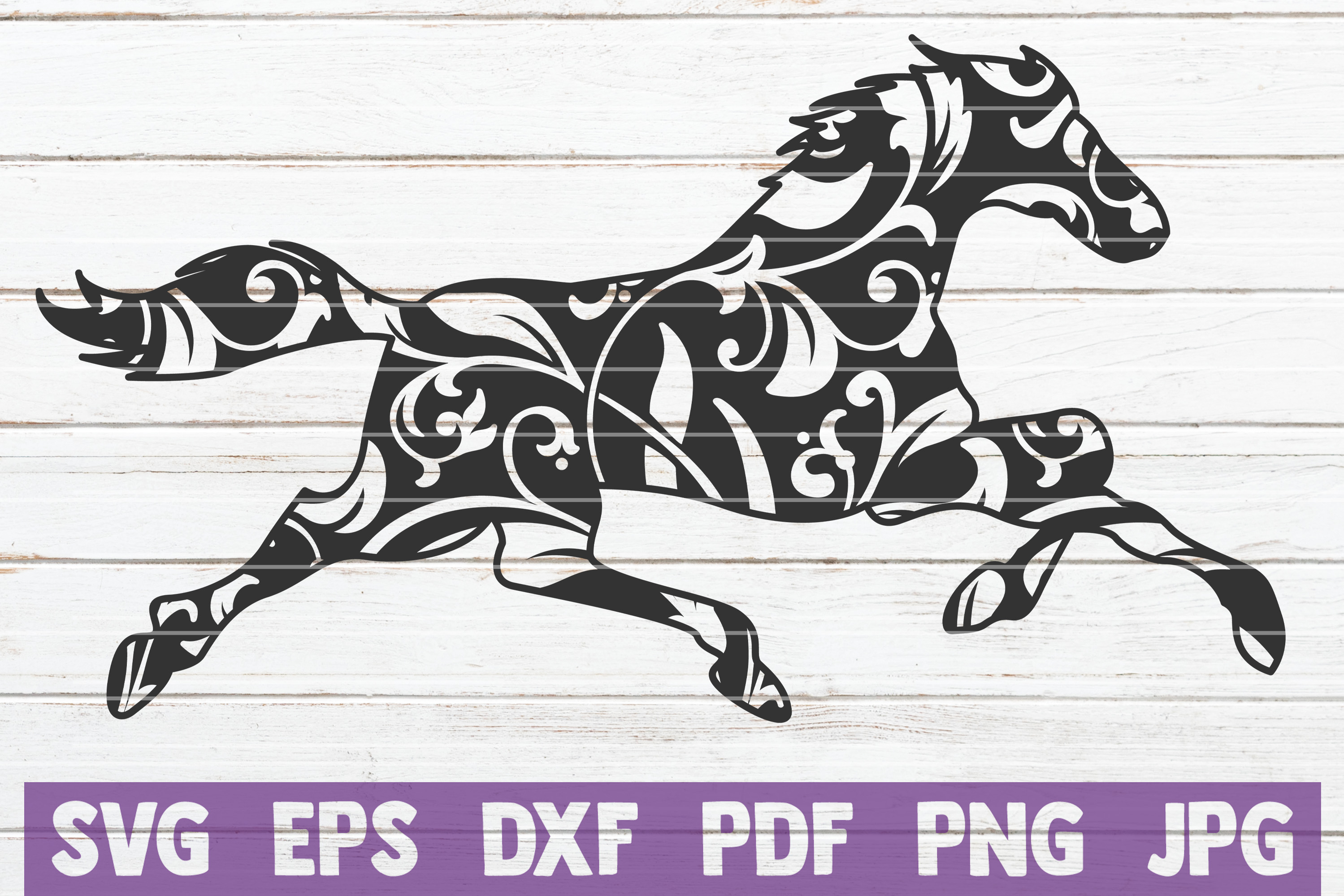 Download Free Mandala Horse Cut File Graphic By Mintymarshmallows Creative for Cricut Explore, Silhouette and other cutting machines.