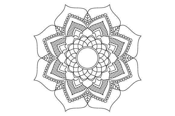 Download Free Mandala Ornament Coloring Page Graphic By Graphicsfarm for Cricut Explore, Silhouette and other cutting machines.