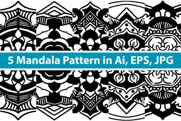 Print on Demand: Mandala Vector Art Pattern Bundle Graphic Patterns By redsugardesign