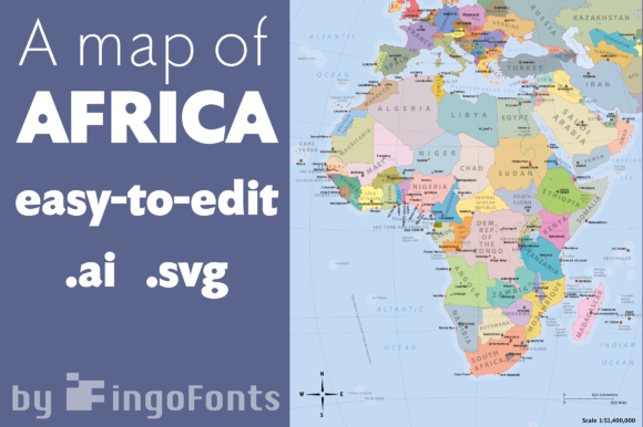 Map Of Africa Graphic By Ingofonts Creative Fabrica