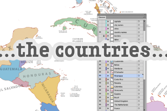 Download Free Map Of Central America Graphic By Ingofonts Creative Fabrica for Cricut Explore, Silhouette and other cutting machines.