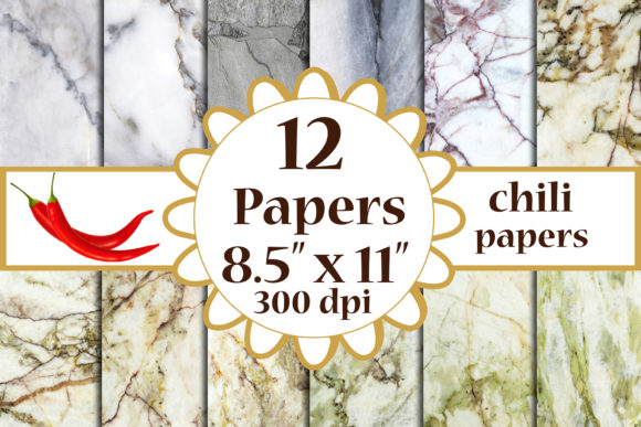 Marble Digital Paper Graphic Crafts By ChiliPapers