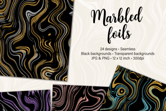 Print on Demand: Marbled Foils Graphic Textures By JulieCampbellDesigns
