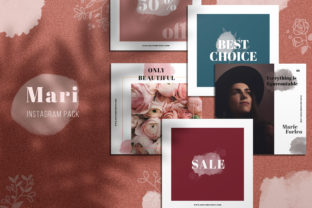 Mari Instagram Pack Graphic By Awesome Templates