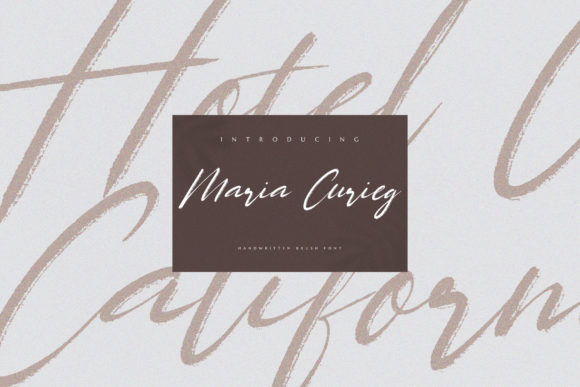Maria Curieg Font Popular Design