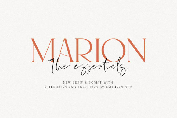 Print on Demand: Marion & the Essentials Serif Font By Emtheen Std.