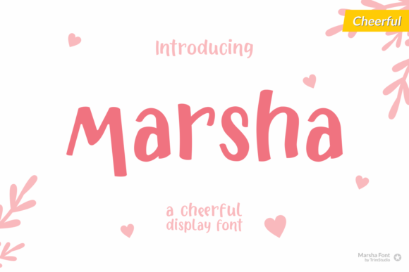Print on Demand: Marsha Display Font By Trim Studio