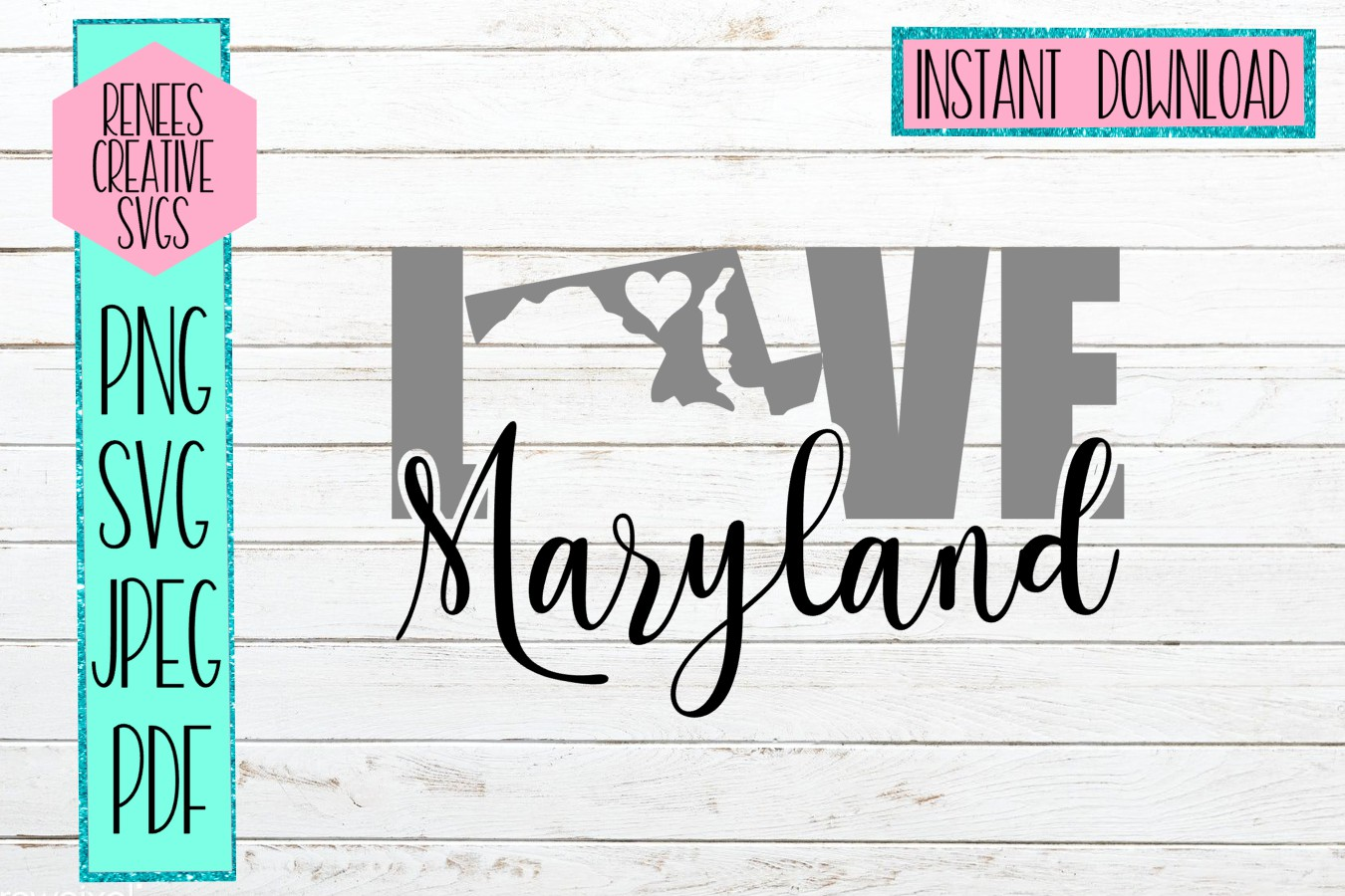 Download Free Maryland Love Svg Graphic By Reneescreativesvgs Creative Fabrica for Cricut Explore, Silhouette and other cutting machines.