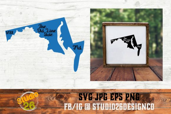 Download Free Maryland State Nickname Graphic By Studio 26 Design Co for Cricut Explore, Silhouette and other cutting machines.