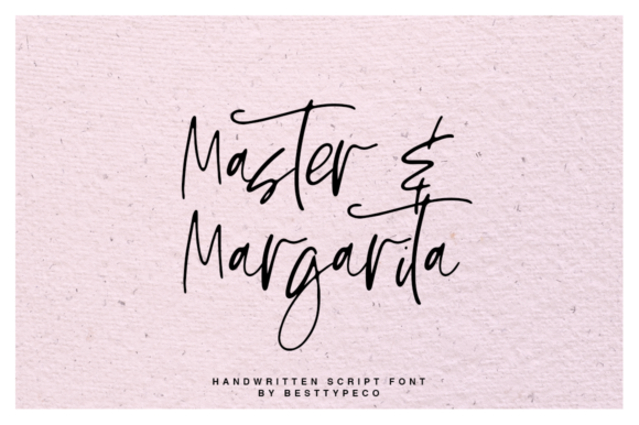 Print on Demand: Master & Margarita Script & Handwritten Font By besttypeco